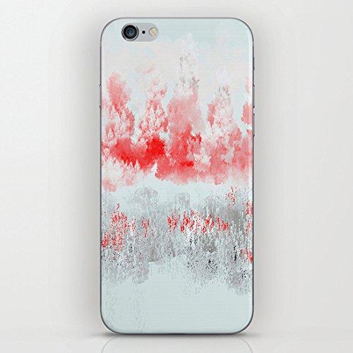 koienOU - grigio e rosso orizzontale - Cover rigida nera lati di custodia Cover per iPhone 6 (11,94 cm)/6S