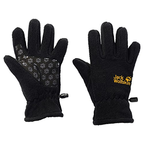 Jack Wolfskin Kinder Handschuhe Kids Fleece Glove, schwarz (Black), 116, 1901861-6000116