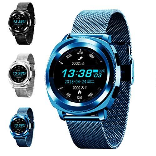 WENTAO Fitness Tracker Hr,Smart Watch Unisex Bluetooth Horloge Waterdichte Pedometer/Hartslag 10 Soorten sport patronen Duurzaam voor iOS en Android Student Gift 1 STKS