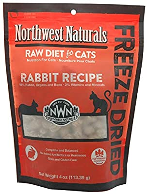 Northwest Naturals Freeze-Dried Cat Nibbles Rabbit Recipe 4 Ounces