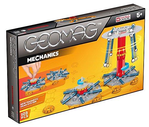 Geomag- Mechanics Construcciones magnéticas y juegos educativos, Multicolor, 103 Piezas (726)