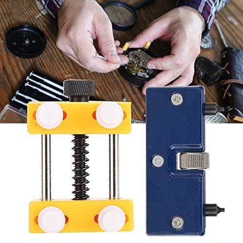 【 】 Watch Back Remover, 2pcs Two Jaws Ajustable Watch Back Case Opener Tool Watch Cover Holder Removal Banco de Trabajo para reemplazo de batería Reparación Relojero Uso
