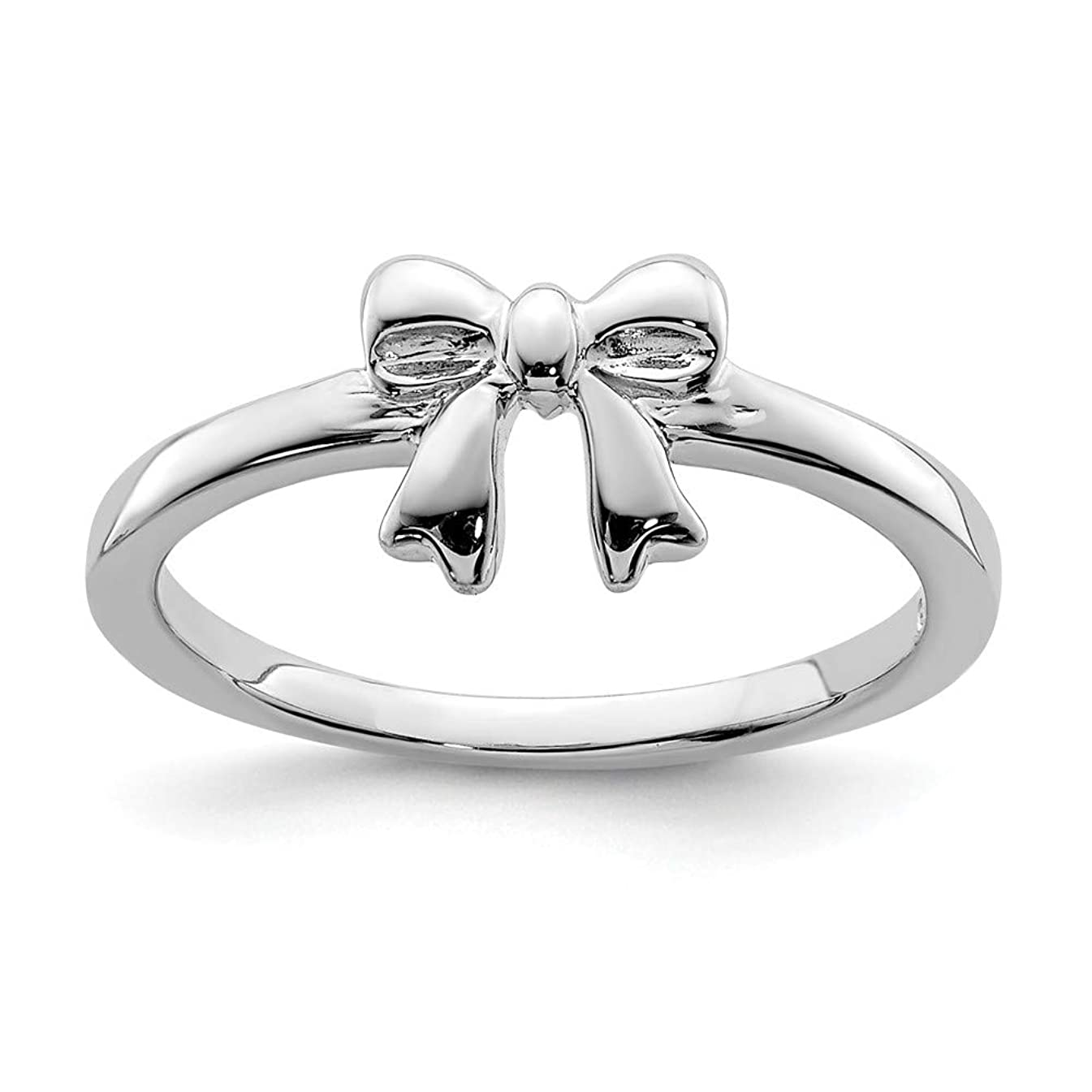 925 Sterling Silver Bow Band Ring Baby Fine Jewelry For Women Gift Set