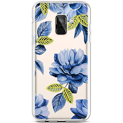 Qjuegad Kompatibel mit Samsung Galaxy A5/A8 2018 Clear Ultra Slim Weiche TPU Flexibles Kreatives Gemalt Silikon Gummi Stoßfest Leichtes,Kratzfestes Schutz Gehäuse hülle