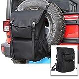 RT-TCZ Spare Tire Storage Bag,Large Capacity SUV Spare Tire Trash Bag,Heavy Duty Oxford Fabric Organizer for Jeep Wrangler TJ JK JL