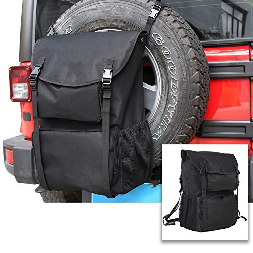 RT-TCZ Spare Tire Storage Bag,Large Capacity SUV Spare Tire Trash Bag,Heavy Duty Oxford Fabric Organizer for Jeep Wrangler TJ JK JL