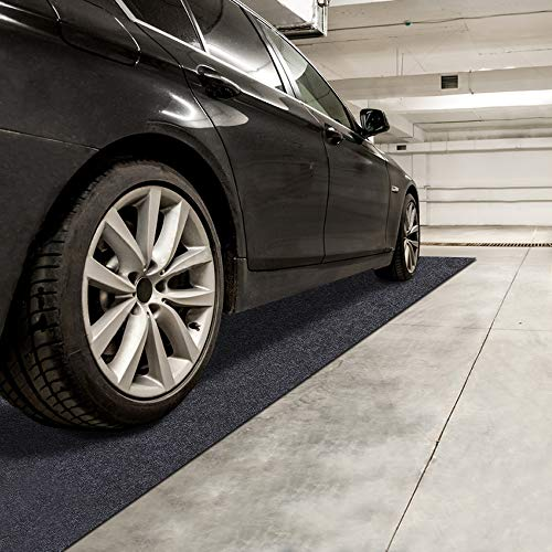 Sszhen Garage Floor Protection Mat,Reusable, Washable, Indoor Parking Mat-Premium Absorbent Oil Pad Contains Liquid (21 4  x 7 5 )