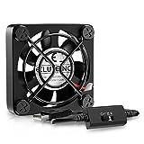 ELUTENG Ventilateur USB 40mm Silencieux Fan 5v Trois Vitesse Réglable Ventilateur Mini 4cm Ventilateur de Refroidissement d'ordinateur Portable pour PC/Xbox/Playstation/AV Cabinet (Noir)