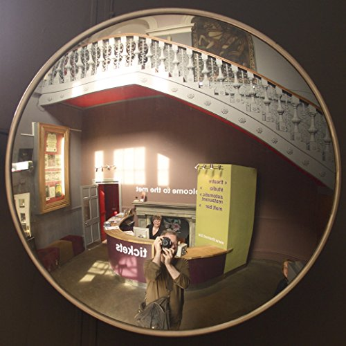 #1 Best Indoor Convex Mirror 18¨ (18 inch)- Large Security Mirror for Safety – Improves Visibility, Perfect for Office, Garage (parking) - Get this Convex Indoor Mirror today