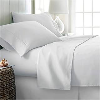 Kotton Culture 4 Piece Sheet Set Premium 1000 Thread Count 100% Egyptian Cotton 15 Inch Deep Solid Luxurious Hotel Class Bedding Super Soft (Queen, White)