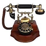 Telefono antico Telefono fisso fisso antico d'annata europeo del retro fisso del Ministero...