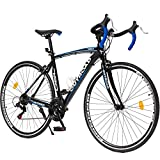 Outroad Road Bike 21 Speed Shimano Shifter 700C Wheel Wheels with Aluminum Alloy Frame, Rider Bike Faster and Lighter Commuter Bicycle, Blue