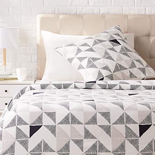 AmazonBasics - Juego de ropa de cama con funda de edredón, de satén, 135 x200 cm / 80 x 80 cm x 1, Multicolor (Diamond Fusion)