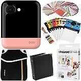Polaroid POP Instant Camera (Pink) Gift Bundle + ZINK Paper (20 Sheets) + Pouch + 100 Sticker Border Frames + Hanging Frames + Album