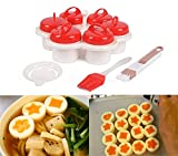 6 PCS Cooker Pancake Maker Mold Egg Shaper Omelette Nonstick Tool, Hard Boiled Eggs without the Shell, Egg Cooker Poachers, Non Stick Silicone