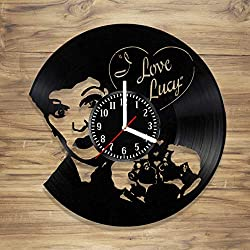 DecorArt Studio I Love Lucy Vinyl Record Wall Clock Sitcom Lucy Ricardo TV Comedy Handmade Art Home Unique Gift idea Him Her (12 inches)
