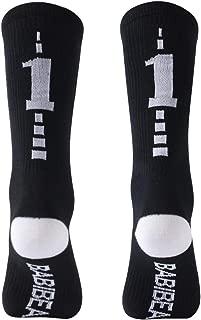Custom Team Number Socks, Youth and Kids Mid Calf Socks for Football, Baseball, Soccer, Basketball 1 Pair
