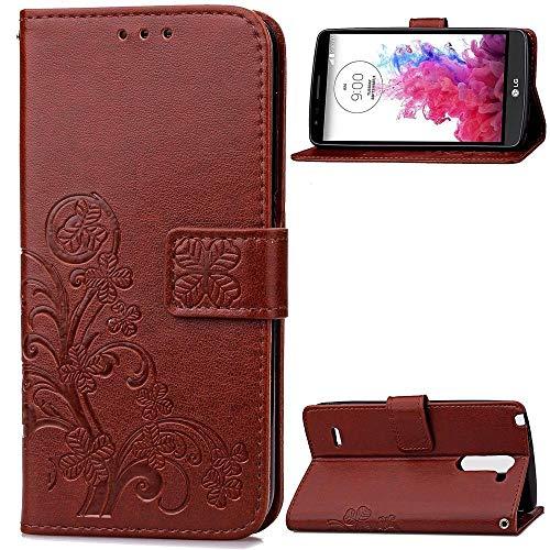 JiuRui-504 Kuaijiexiaopu Fundas para LG G3 Stylus D690, Flip PU Cuero + TPU Holder Funda de la Cartera con Ranura para la Tarjeta para LG G3 Stylus (Color : Marrón)