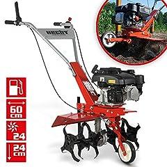 HECHT bensinmotorhoe med 60 cm arbetsbredd - 4 taktsmotor - 24 hårda knivar - slipad fräs - trädgårdsskor - kultivator - gräva till marken och lossa - trädgårdsskärare bensin