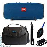 JBL Xtreme Portable Wireless Bluetooth Speaker (Blue) + I3ePro Water...