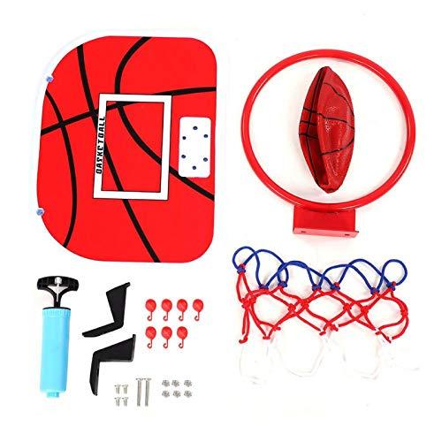Deror Mini Baloncesto, aro de Netball de suspensión Ajustable para Interiores Mini Placa de Baloncesto para Juegos Infantiles(Right-Angle Hook)