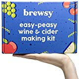 Brewsy Wine Making Kit For Beginners   Everything Included   Makes 12 Bottles of Red, White, & Juice Wine, Ciders, & More   Ready in 7 Days   15 Minutes to Start   Basic Welcome Kit   Made in USA