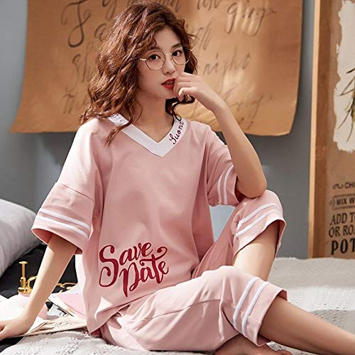 XUHRA zomer-pyjama pyjama pyjama pyjama pyjama pyjama set korte mouwen zomer pyjama dames 4XL pyjama dames grote maten