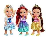 Disney Princesses Ariel, Belle & Cendrillon - Poupées de Poche - 3 x Pack de...