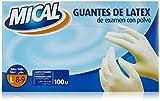 Mical - Guantes de latex de examen con polvo - Talla L - 100 unidades