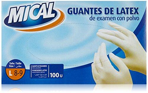 Mical - Guantes de latex de examen con polvo -