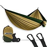 Bear Butt Double Parachute Hammock, Khaki/Dark Green