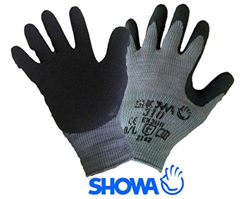 10 Paar - SHOWA Grip-Arbeitshandschuhe 310 schwarz, Größe 9