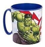 Theonoi wieder verwendbar - Kunststoffbecher Tasse 350 ml Avengers Becher aus Kunststoff BPA frei Mikrowelle geeignet Geschenk Jungen (Avengers AA)