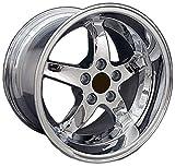 OE Wheels LLC 17 inch Rim Fits Ford Mustang Cobra R Wheel FR04B 17x10.5 Chrome Wheel