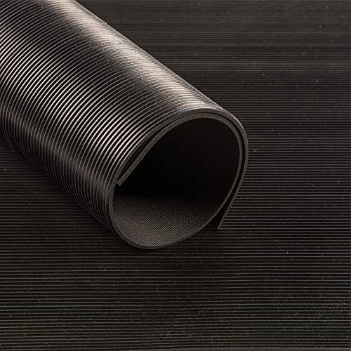 Feinriefenmatte schwarz 3mm (120cm breit)     Gummimatten   Meterware