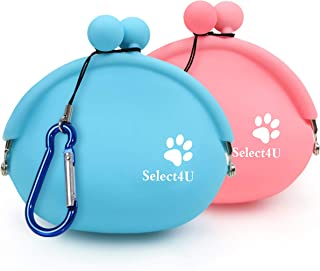 Pet Treat Pouch Silicone Dog Treat Pouch for Training Treat Bag Reusable, Set of 2 Treats Pouches Small Dog Snack Pouch Co...