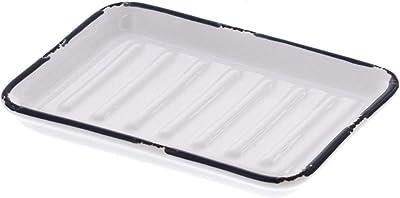 山崎実業 西海岸風 石鹸置き ソープホルダー ソープディッシュ ソープトレー ウエストコースト ホワイト 約W13.5XD9.5XH1.5cm 4067