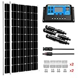 SUNGOLDPOWER 200 Watt 12V Monocrystalline Solar Panel Module Kit:2pcs 100W Mono...
