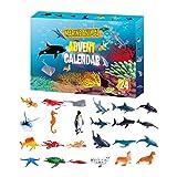 Betteros Calendario de Adviento para niños 2020 juguetes de cuenta atrás 24 regalos únicos para niños y niñas, pulsera de barro de cristal, kit de animales marinos, sorpresa todos los días