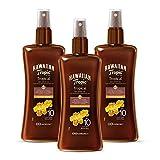 Hawaiian Tropic - Protective Dry Spray Oil - Aceite Seco Bronceador SPF 10, Fragancia de Coco y Guayaba, 200 ml, Pack de 3