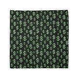 Ambesonne Unisex Bandana, Money Pixel Art Dollar Pattern, Lime Green