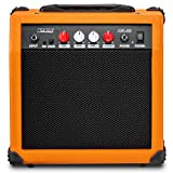 LyxPro Electric Guitar Amp 20 Watt Amplifier Built In Speaker Headphone Jack And Aux Input Includes Gain Bass Treble Volume And Grind - Sunburst