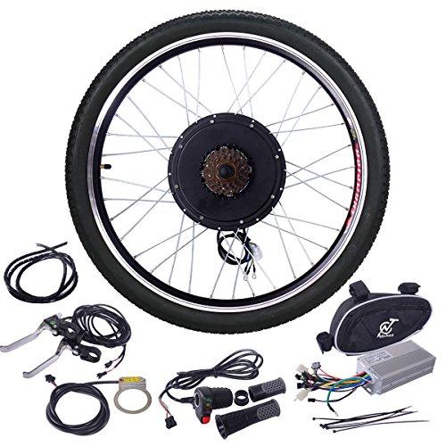 "JAXPETY 48V 1000W Electric Bicycle Cycle E Bike 26"" Front Wheel Ebike Hub Motor Conversion Kit Hub Motor Wheel"