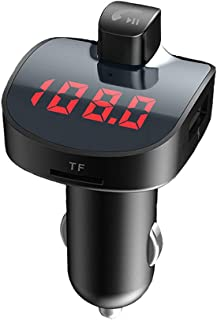 LCD Monitor Handsfree Call Car Mp3 Player Bluetooth V4.2 Car Kit Dual USB Fast Charger FM Transmitter Wireless Audio Adapter