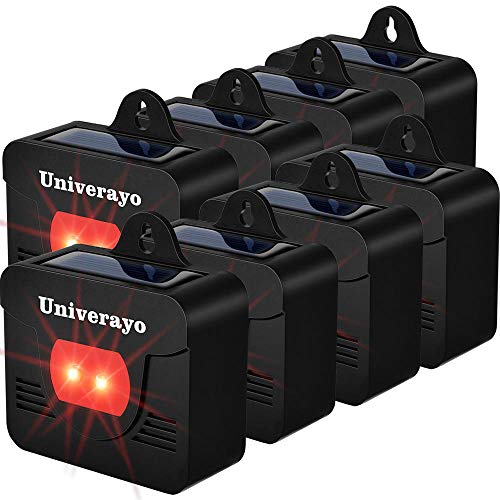 Univerayo Predator Deterrent Light Solar Predator Control Lights for Deer Coyotes Deterrent Devices Skunk Fox Raccoon Repellent Upgraded Version - 8 Pack