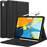 ABOUTTHEFIT Detachable Wireless Keyboard , Apple Pencil Charging Support Ultra Slim PU Leather