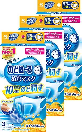 【まとめ買い】のどぬ~るぬれマスク 立体タイプ ゆず&かりんの香り 普通サイズ 3セット ×3個
