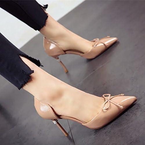 FLYRCX la Mode a personnalité Cuirs Stilettos Dame Petite Bouche du Printemps et de l'été Sexy Partie Chaussure