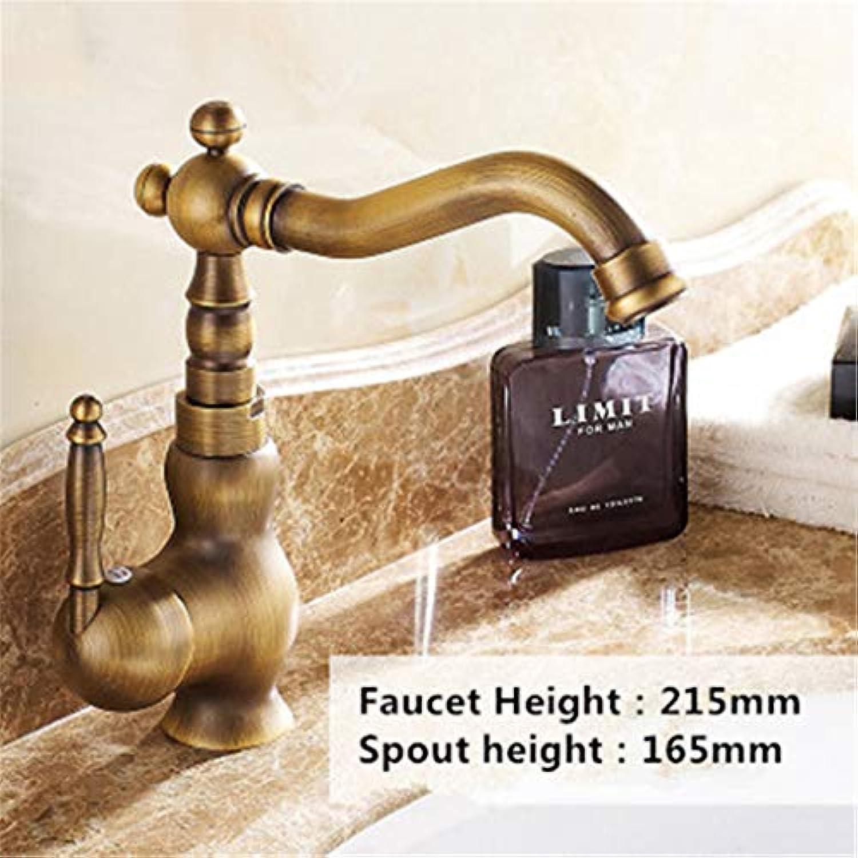 Jasseminoc Heimwerkerzubehr Antique Brass K¨1chenarmatur 360 Swivel Badezimmer Basin Sink Mischbatterie Kran SLT003S Brass