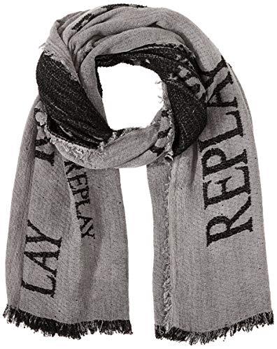 Replay Herren AM9223.000.A0317B Mode-Schal, 299 Washed Black, UNIC